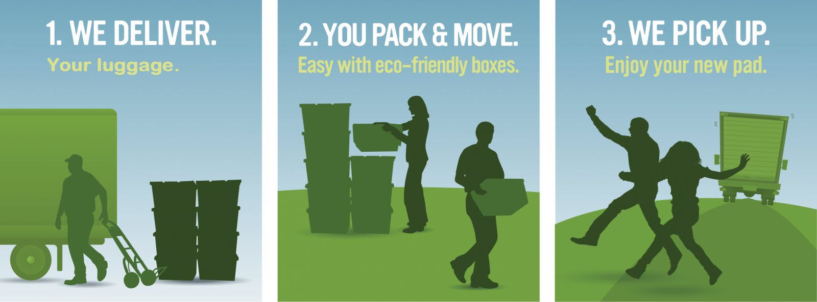 Try our eco friendly reusable moving boxes