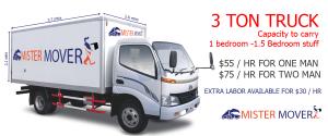 hire 3 tones truck