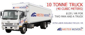 moving truck with 10 tonne capacity