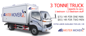 3 tonne truck - Cost to Hire Movers