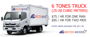 6 tones truck for moving