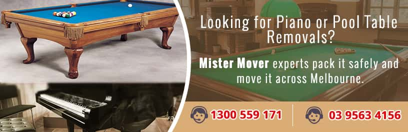 Piano and pool table movers
