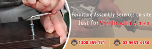 Furniture assembly services for home and office furniture and equipment across Melbourne